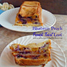 Blueberry Peach French Toast Loaf