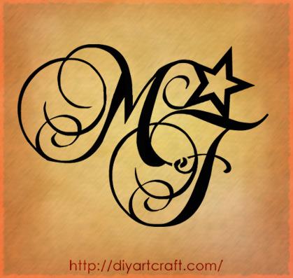 Lettering Tattoos on Disegna Le Maiuscole Mf  4 Soggetti Originali Per Tatuaggi