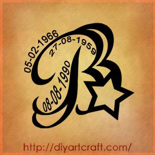 Lettera B Stilizzata, In Corsivo - Tutti I Tatuaggi Con La Lettera B