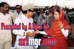 MGR receiving the Prime Minister