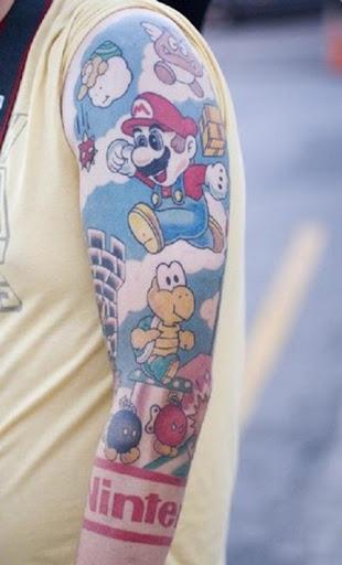 super-mario-tattoo. Semana passada mostramos que um nintendista,