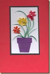 quilled flowerpot