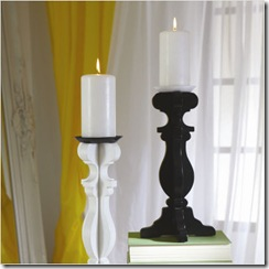 csn baroque candlestick in black