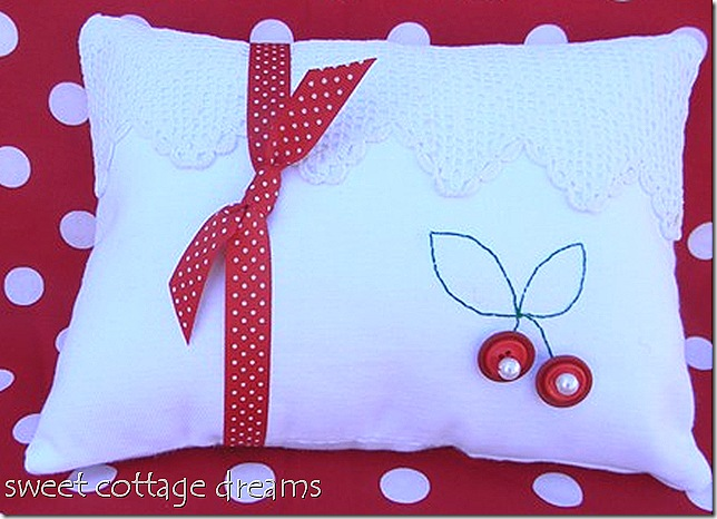 judy's cherry pillow