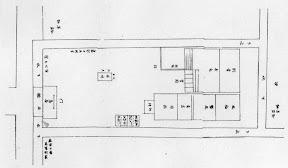 江戸期の竹長稲荷社見取図