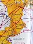 米軍作成の#40-2283飛行経路図