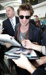 Robert Pattinson Arriving At Nice Airport For Cannes Film Festival