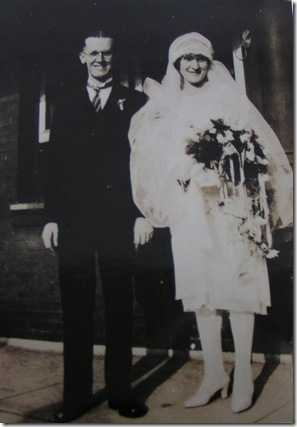 Grandparents Wedding Day Sept 8 1928