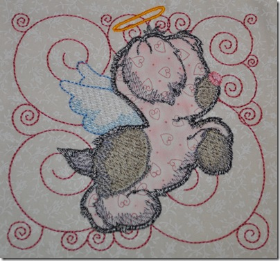 Appliqued Angel Puppies 004