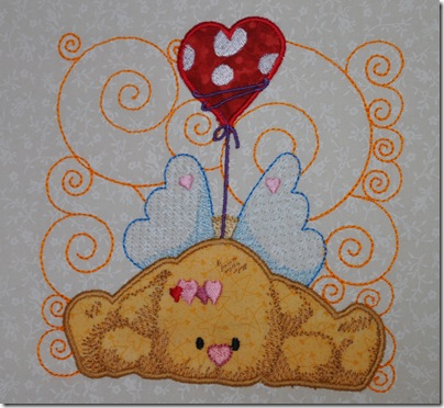 Appliqued Angel Puppies 007