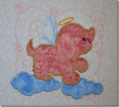 Appliqued Angel Puppies 012