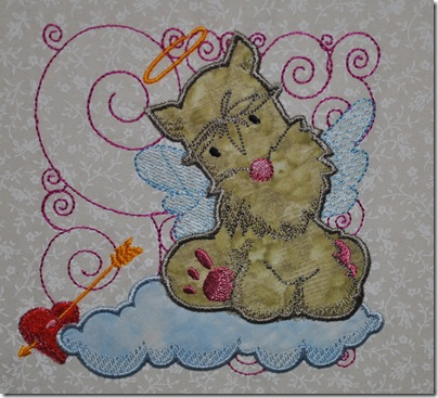 Appliqued Angel Puppies 011