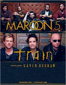 Banner de divulgação da turnê conjunta de Maroon 5 e Train