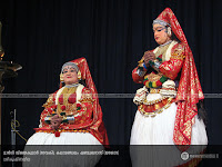 KrishnaLeela Kathakali: Margi Vijayakumar as Devaki and Kalamandalam Shanmukhadas as Yasoda.