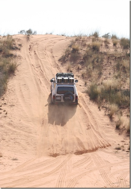Dunes at 4x4 trail Witsand Kalahari