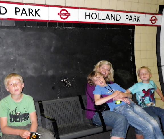 Venter på toget...