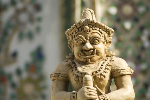 Female%20Giant%20in%20Wat%20Khra%20Kaew - Some Sculptures in Wat Phra Kaew