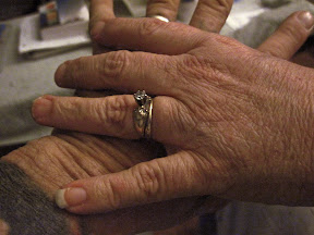 aging woman's hands