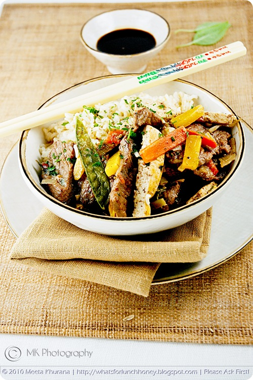 Beef Vegetable Tofu StirFry (02) by MeetaK