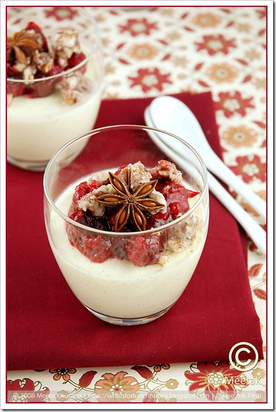 Quark Panna Cotta Cranberry Compote (01) by MeetaK