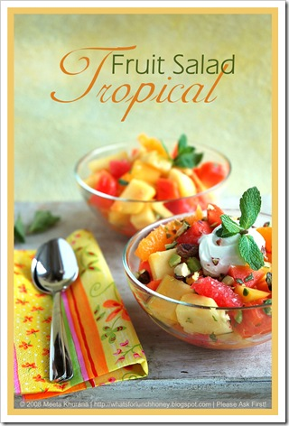 TropicalFruitSalad 02 framed