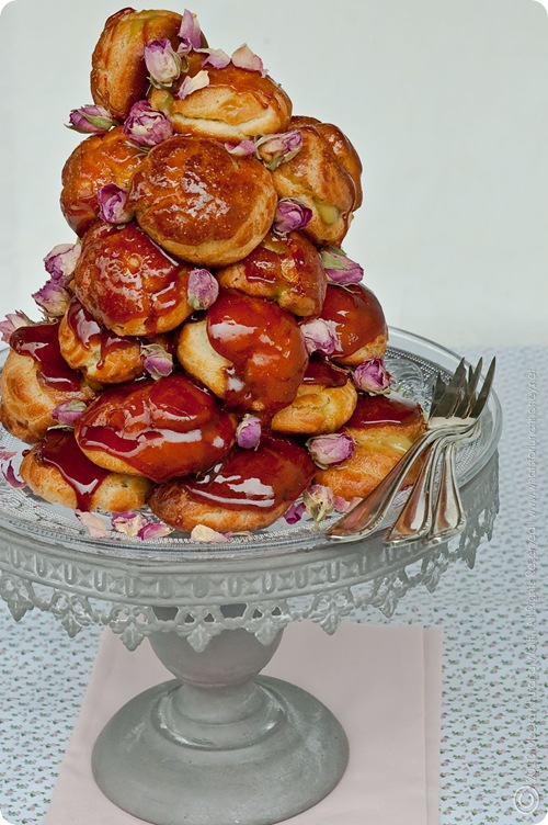 Croquembouche Pistachio Rosewater Pastry Cream (0011) by MeetaK