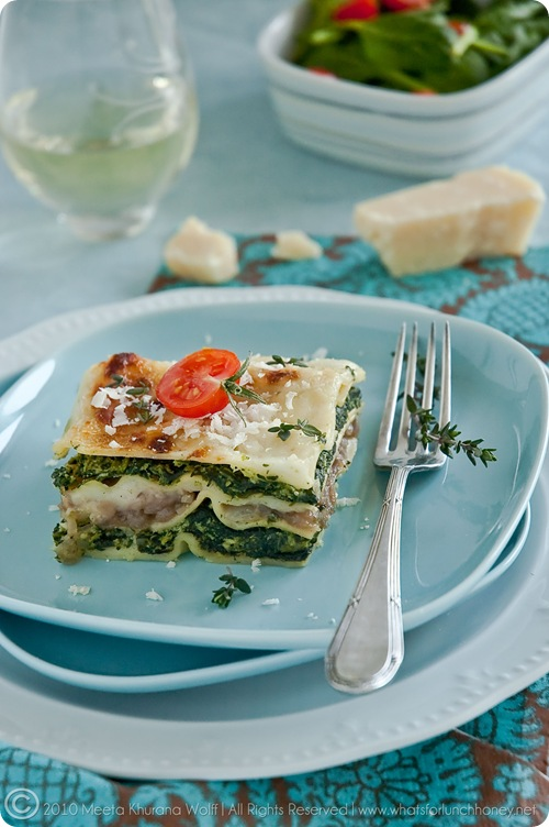 Spinach Caramelised Onion Lasagna (0005) by MeetaJ