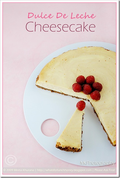 Dulce de leche Cheesecake (01) by MeetaK