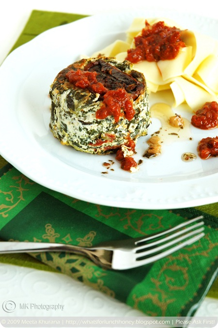 Ricotta Spinach Timbales (02) by MeetaK