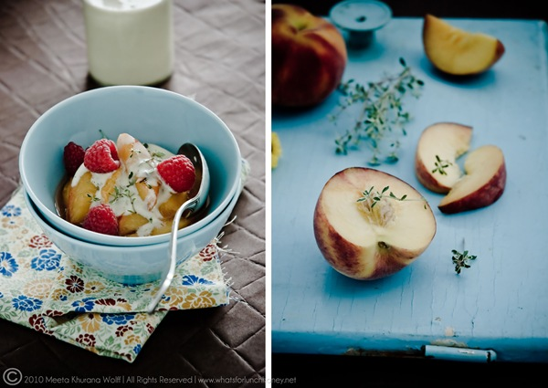 Peaches and Cream (003) Diptych by MeetaK