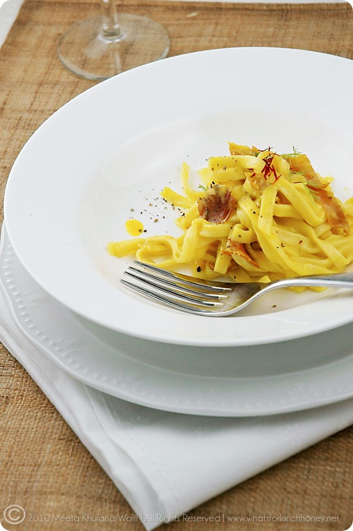 Tagliatelle in Saffron Sauce (01)by MeetaK