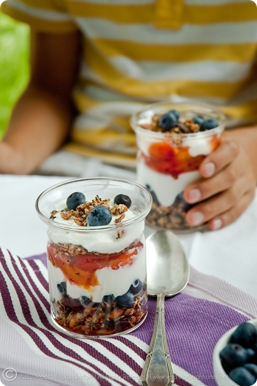 Plum Blueberry Granola Crunch Verrine (0038) by MeetaKWolff