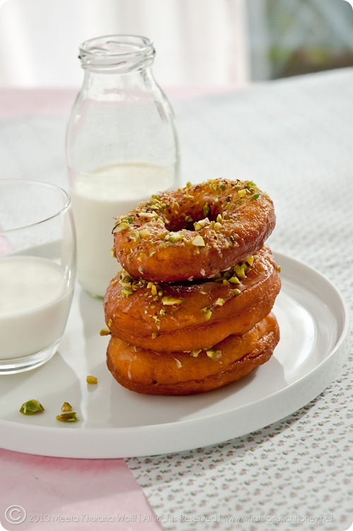 Saffron Cardamom Doughnuts (009) by Meeta K. Wolff