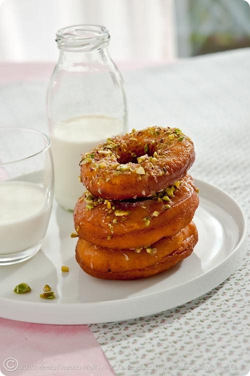Saffron Cardamom Doughnuts (009) by Meeta K. Wolff