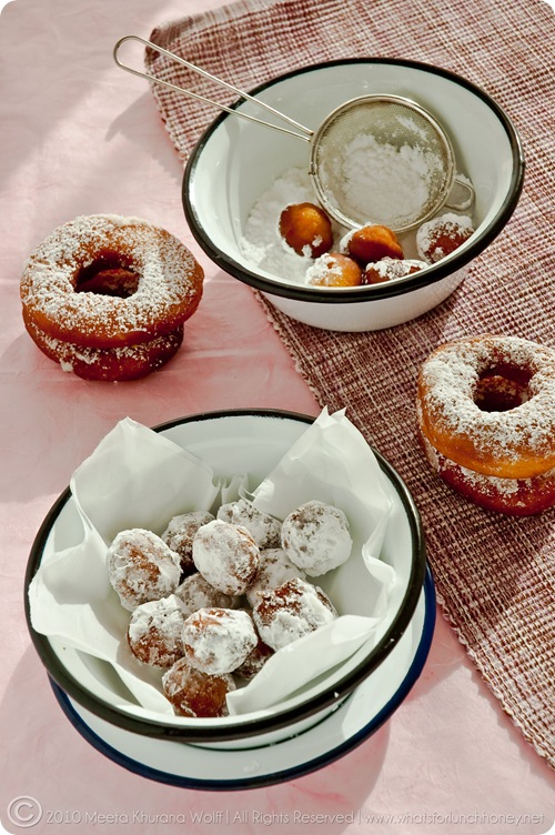 Saffron Cardamom Doughnuts (003) by Meeta K. Wolff
