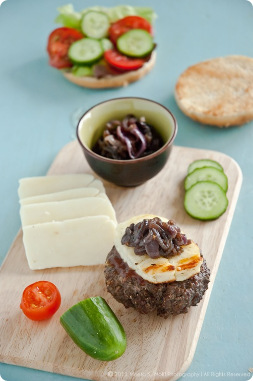 Spiced Lamb Burgers with Caramelized Halloumi Cheese (0017) by Meeta K. Wolff