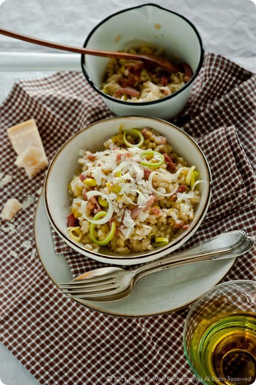 Riesling Risotto with Leek and Bacon (0019) by Meeta K. Wolff