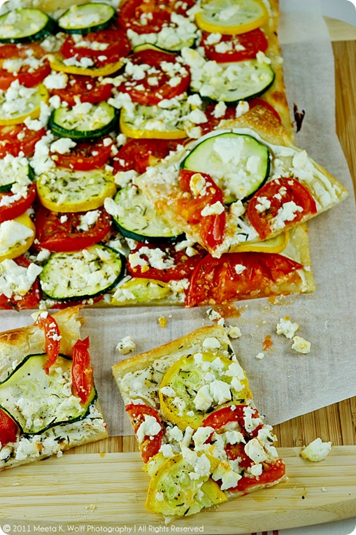 Tomato Zucchini Feta Tarte Flambee (02) by Meeta K. Wolff