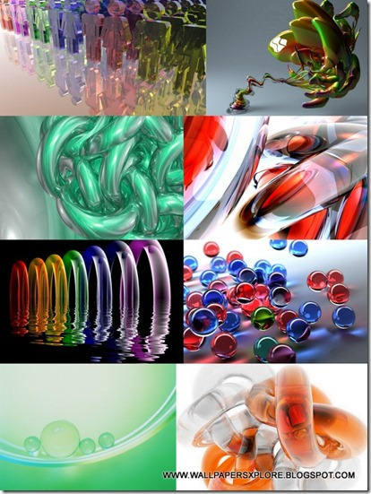 3D GLASS BEST TRANSPARENT WALLPAPERS  [ MyShare ]