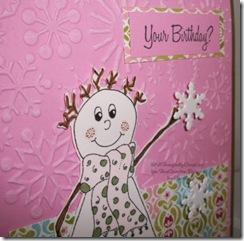 Birthday Snowman