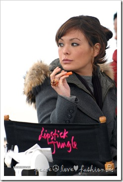 "<<filming>> on location for ""Lipstick Jungle"" on the streets of Brooklyn on November 5, 2008 in New York City."