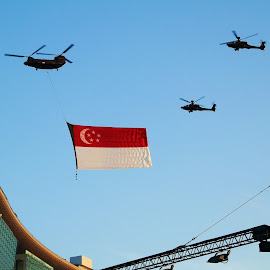 Flypast by Koh Chip Whye - Transportation Helicopters ( airplane )