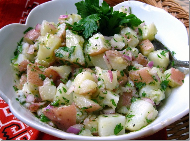 potato salad i ate growing up no mayonnaise here just oil and vinegar ...