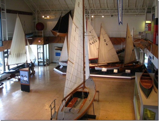 display of boats at Maritime Museum-Halifax