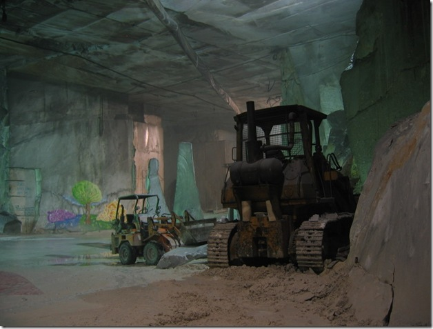 trucks inside caves