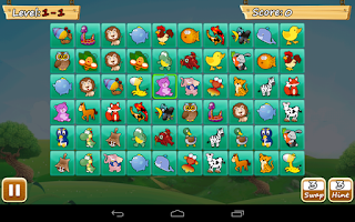Screenshot of Pikawai-onet: matching game