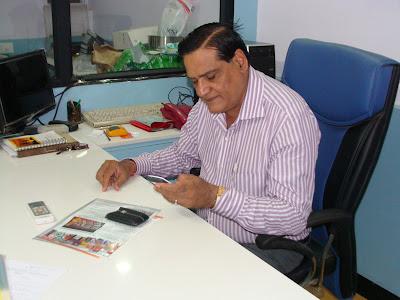 Vasantbhai Gadesha in his office
