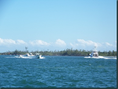 on our way to the island near St Lucie Inlet