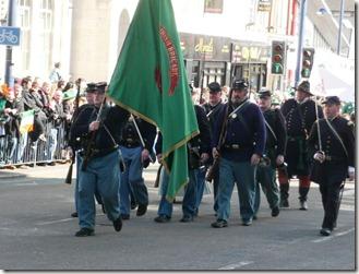 Воины ирландской бригады.