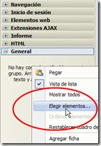 Elegir elementos para la caja de herramientas
